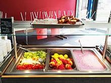 Bufettwagen für Salat, Obst und Dessert